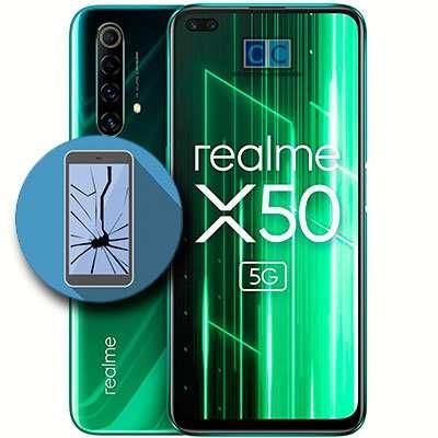 cambiar pantalla realme x50
